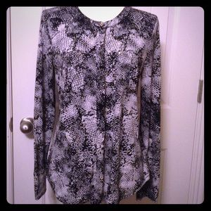 Dana Buchman Button Down Blouse M